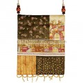 Jerusalem of Gold Silk Patchwork bag by Israeli artist Yair Emanuel