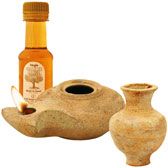 Clay Oil Lamp Set