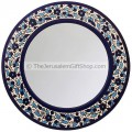 Hand Painted Armenian Ceramic Flowered Mirror