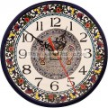 Jerusalem Made Armenian Ceramic Tabgha Wall Clock