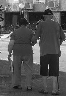 elderly gentleman in Sderot
