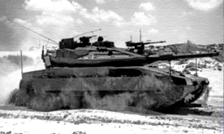 Merkava Mark 4m with Trophy active protection system