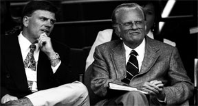 Billy Graham with his son - Wiki Photo