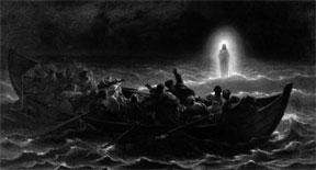 Yeshua (Jesus) walking on water