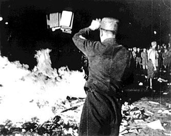 In 1933, Nazis burned works of Jewish authors