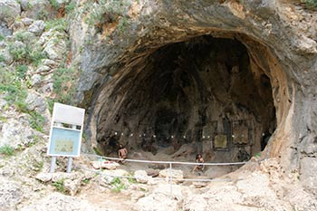 Prehistoric cave in Mount Carmel