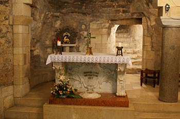 The crypt under the Basilica