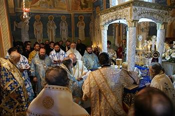 Nazareth interior of the Church of Saint Gabriel