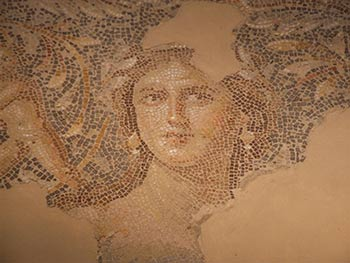 This mosaic portrait of a beautiful young woman has become known as the Mona Lisa of the Galilee.