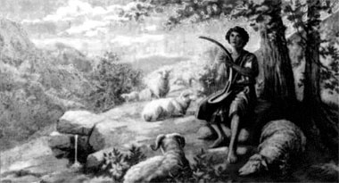 Young David as Shepherd boy