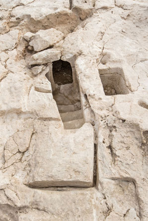 The ritual baths discovered. Photo: Assaf Peretz, courtesy of the Israel Antiquities Authority.
