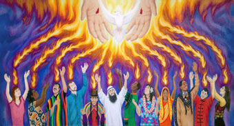 Pentecost - The Upper Room and the Number 40: beneath the stones