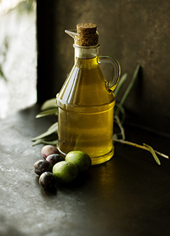 The virgin batch extracted from the olive press