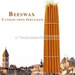 Beeswax Holy Fire Resurrection Candles - Bundle of 33 - Made in the Holy Land