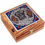 Ceramic Tile Olive Wood Box - Tabgha
