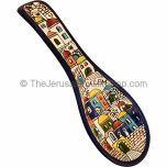 Armenian Ceramic 'Jerusalem' Spoon