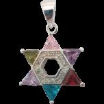 Crystal Encrusted Silver Star of David