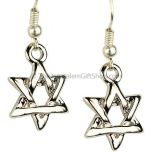 Buy Star of David Intertwined Earrings