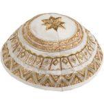 Yair Emanuel | Embroidered Silk Circles Kippah / Yarmulke - Gold
