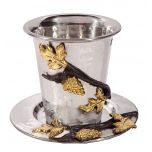 Holy Land Harvesters   Lord's Supper Cup and Dish   Stainless Steel - Grapes