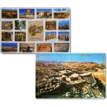 Placemat - Aerial View Jerusalem - Popular Tourist Spots in Jerusalem - Double Sided