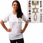 Jerusalem City of Peace - Grafted In small print Tshirt