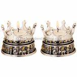 Crown above Jerusalem Candle Holder (pair)
