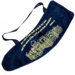 Ram's Horn Shofar Bag | Jerusalem | Blue Velvet