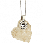 Jerusalem Stone and Silver Aaronic Blessing Heart Necklace