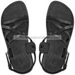 Black leather Biblical Jesus Sandals