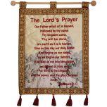The Lord's Prayer - Jerusalem Wall Hanging - Matthew 6 - Tower of David - Burgundy