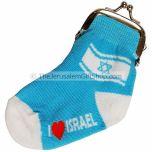 Novelty Sock Purse - I Love Israel