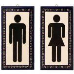 Armenian Ceramic Men's & Women's Door Signs