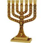12 Tribes Knesset Menorah - Jerusalem - Brass