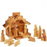 Mini Olive Wood Nativity Set -