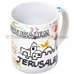Modern Design Jerusalem Souvenir Mug