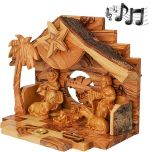 Musical Nativity from Olive Wood - side view