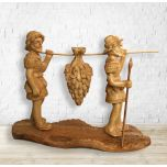 Joshua and Caleb - Fruit of the Land in Olive Wood
