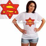Superman - Woman Star of David Tshirt