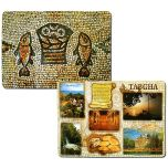 Set of 6 Placemats 'Tabgha' Loaves and Fish - Jesus's Miracle - Double Sided