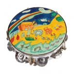 Handpainted Noah's Ark Tambourine