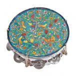 Hand Painted Oriental Tambourine