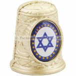 Thimble with Jerusalem and Star of David