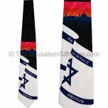Tie - Pray for the Peace of Jerusalem on Israeli Flag