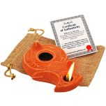 Biblical Clay Oil Lamp - Wise Virgins in Sackcloth Gift Bag - Be Ready!!!