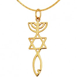 Grafted In - Messianic Seal of Jerusalem pendant