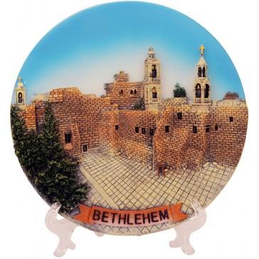 3D Souvenir Decorative Plate - Bethlehem Manger Square Church of The Nativity