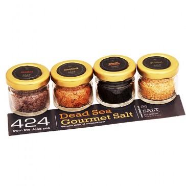 424 Dead Sea Gourmet Salt - Chef's Gift Pack - Sharp Series