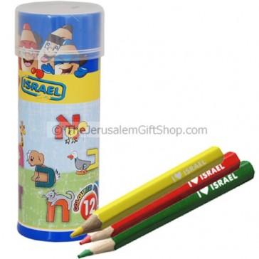 Colored Pencils - Alef Bet