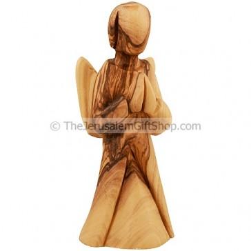 Olive Wood Angel Praying